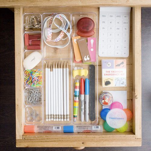 Make sure your junk drawer contains only important, meaningful items. | 26 Resolutions To Keep You Organized In 2014