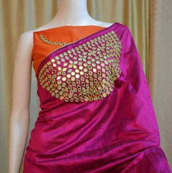 1b34f3ff2beaa4 Designer Fancy Mirror Work Sarees in 2019 | Saree and blouse ...
