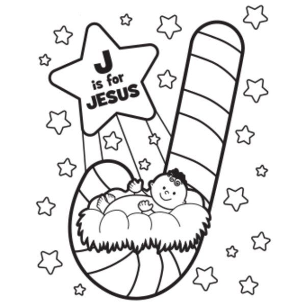 jesus-coloring-page 600×600 pixels | christmas