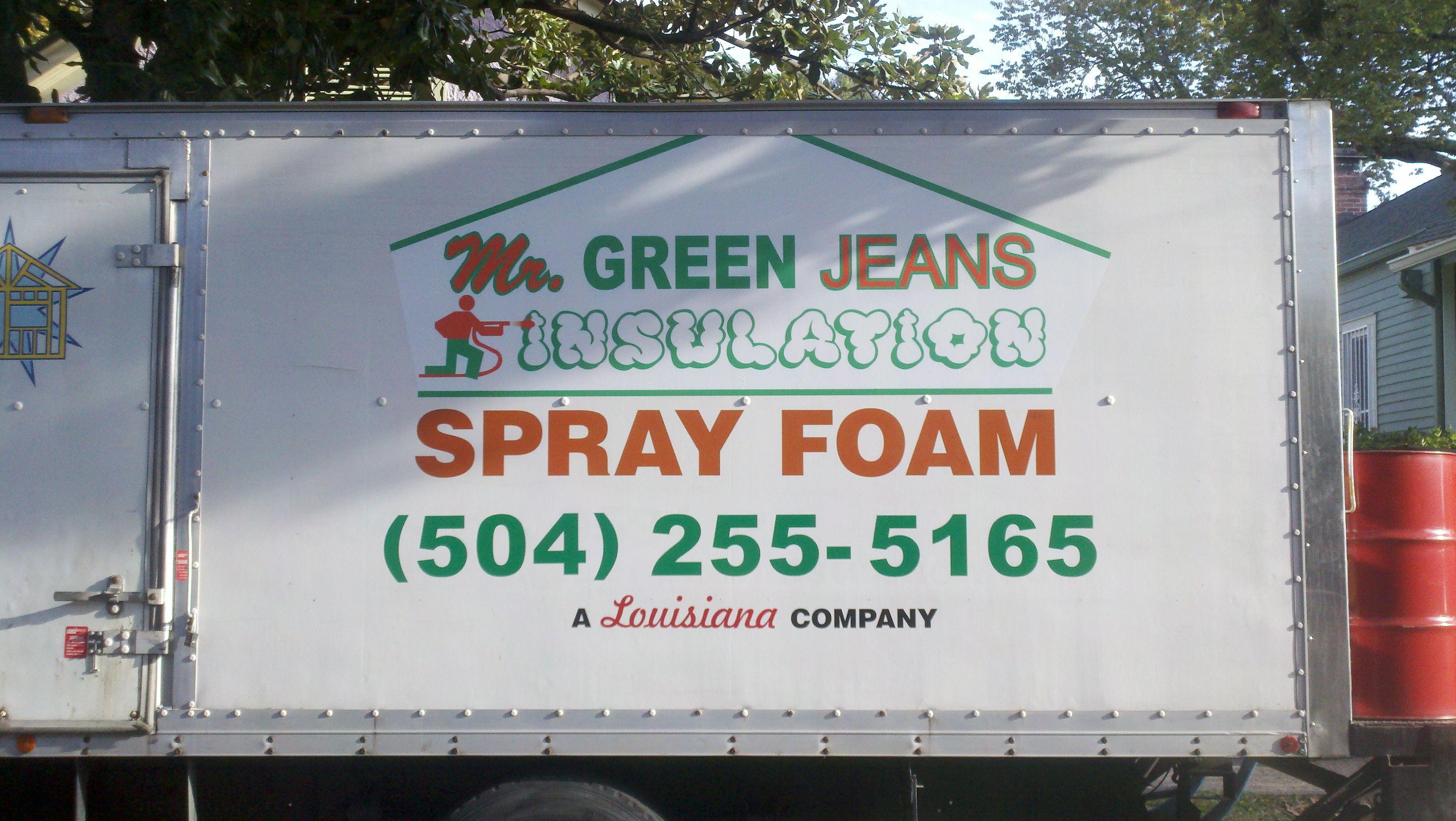 Mr. Green Jeans Insulation Spray Foam rig