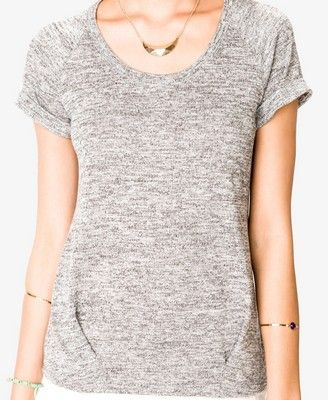 And this...Marled Cuffed Sleeve Top | FOREVER21 - 2036321272