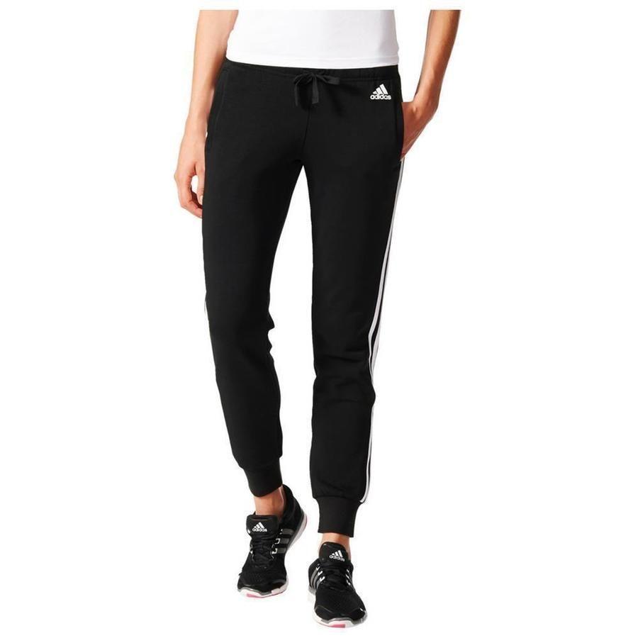 Details About Adidas Essentials 3 Stripe Pants Womens Jogging Trousers Gym Sweatpant Black Show Original Title Pants For Women Trousers Women Adidas Pants Women