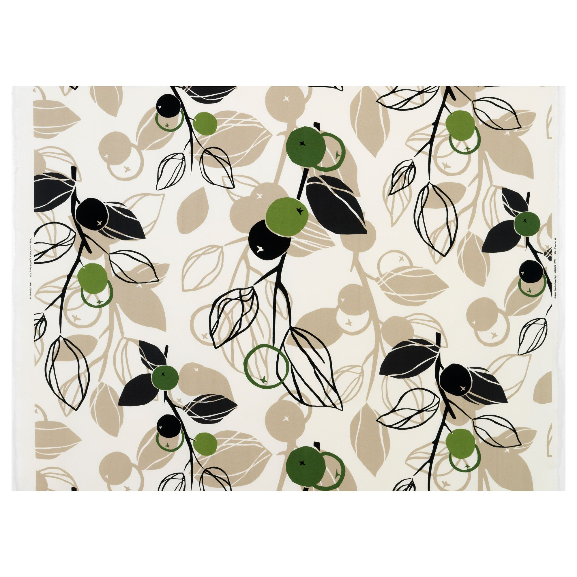 Ikea white curtains with red pattern - Majken Fabric White Beige Green Ikea I Could See These As