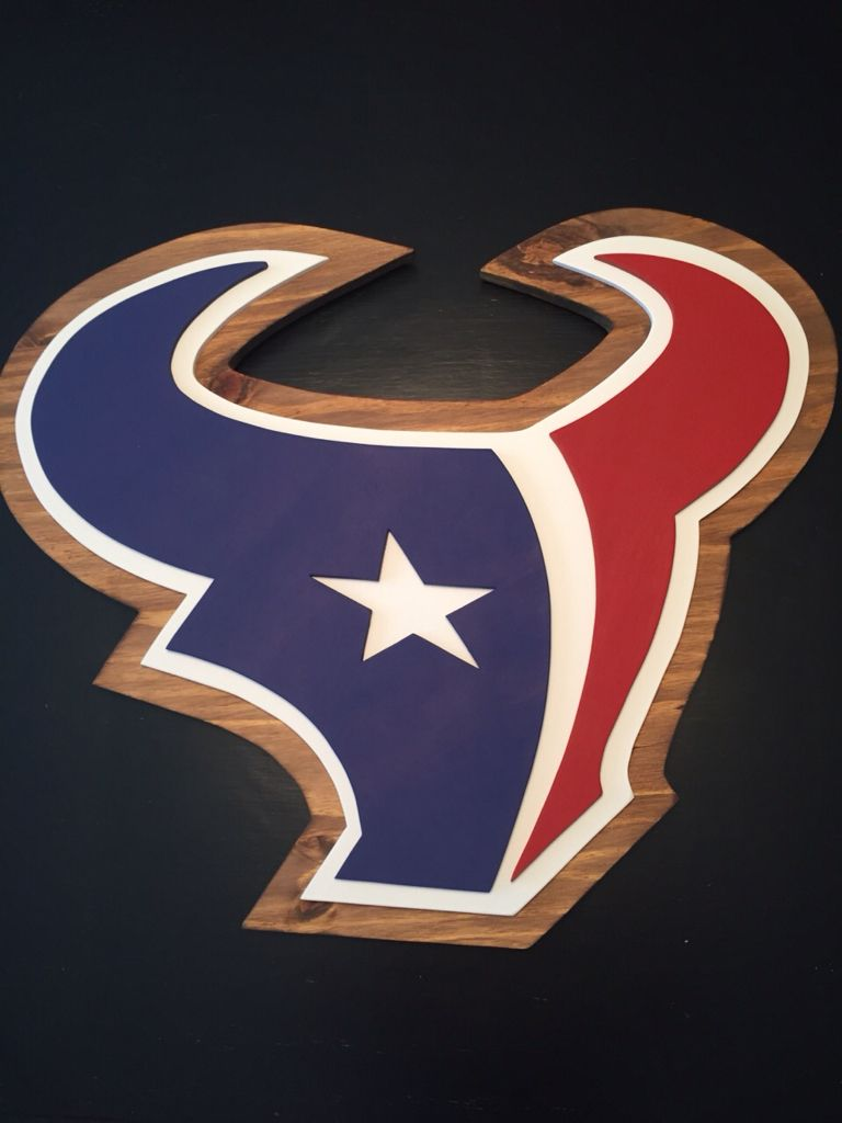 Texans 3 D Logo Sign Houston Wall Decor Hand Made By Kate