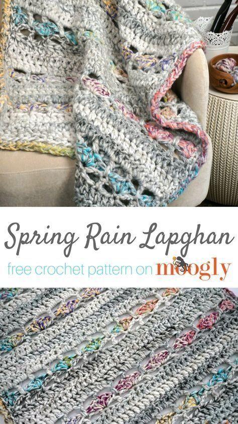 Spring Rain Lapghan | Ropa cama, Manta y Puntos para tejer