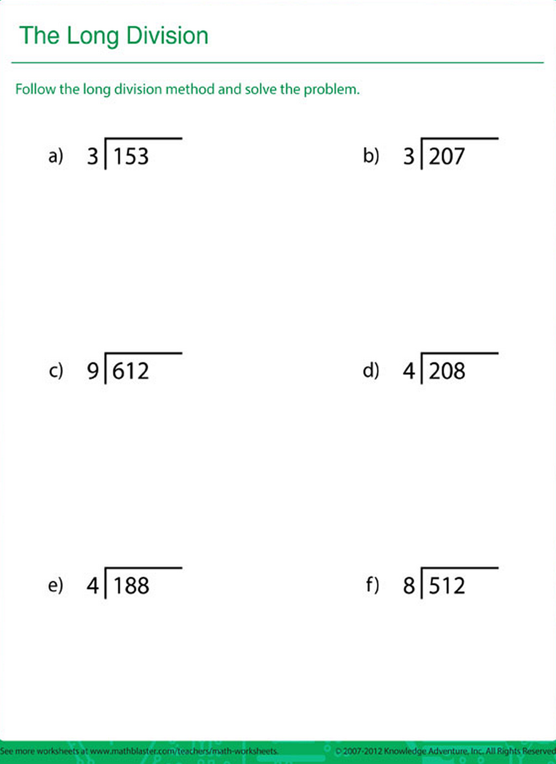 Printable Math Worksheet For Kids In Grade 4 And 5