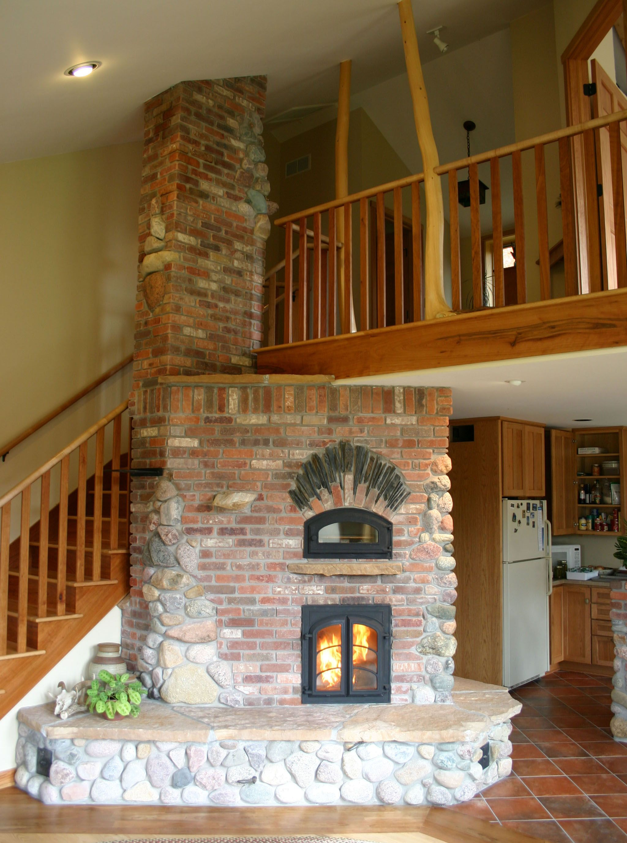 brick and stone combination fireplace google search if i ever rh pinterest com brick and stone fireplaces brick and stone fireplace cleaner