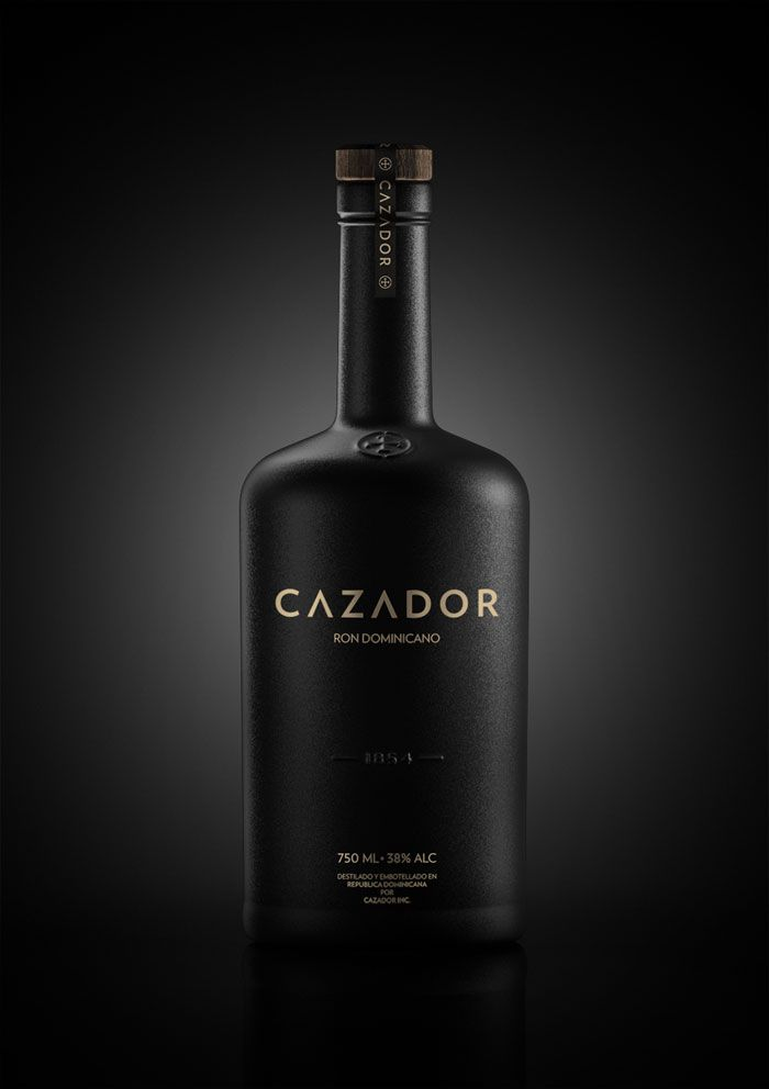 Designed by Damian Szews of Katowice, Poland. Cazador is a conceptual brand of rum.