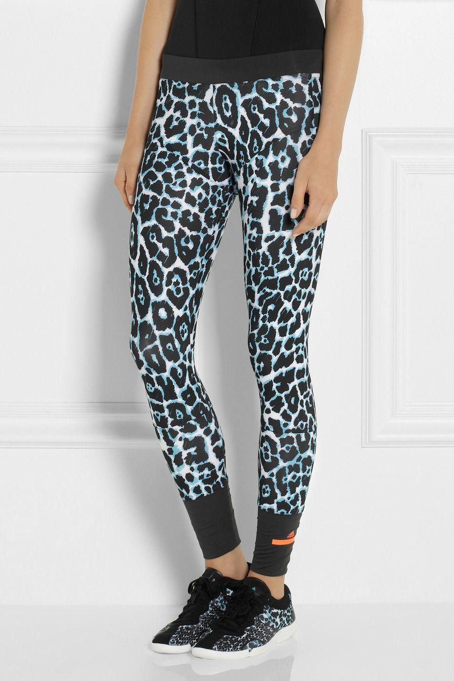 92f10df7ba3 Adidas by Stella McCartney | Leopard-print stretch-jersey leggings |  NET-A-PORTER.COM