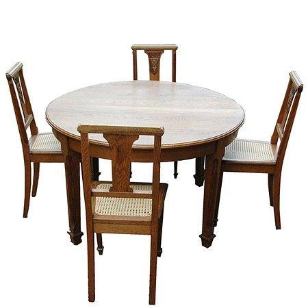 Art Deco Kuipstoelen.Franse Art Deco Tafel Met 6 Stoelen Marble Table Table Oak