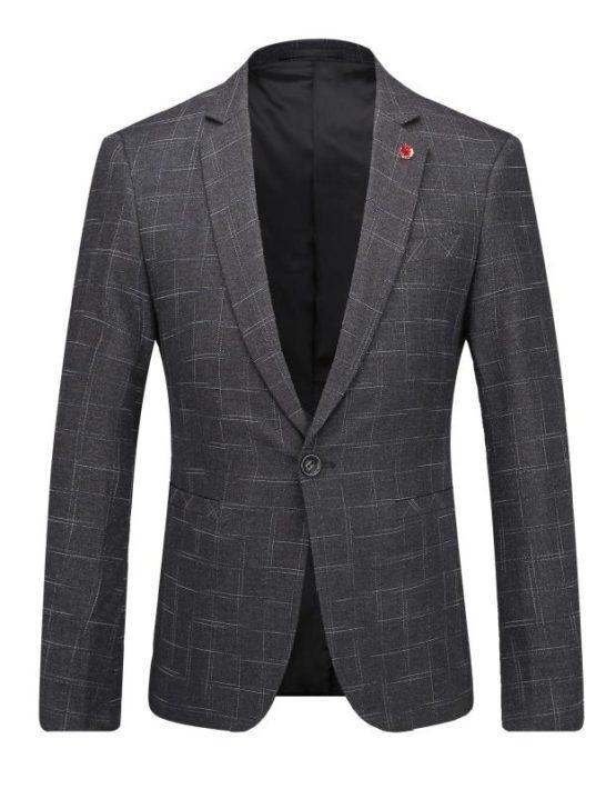 e9efe2e4422 Plaid Men Blazer Slim Fit Leisure 2017 New Fashion Business Evening Party  Stage Wear for Singer Plus Size Blazer Masculino