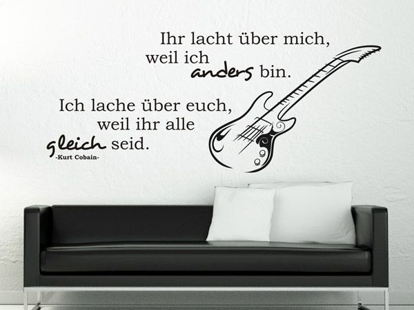 wandtattoo ihr lacht ber mich weil ich zitate pinterest zitate musik und spr che zitate. Black Bedroom Furniture Sets. Home Design Ideas