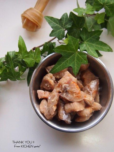 レンジでチン 犬のおやつ 胸肉ジャーキー By Gonta レシピ レシピ 犬 ご飯 レシピ 料理 レシピ