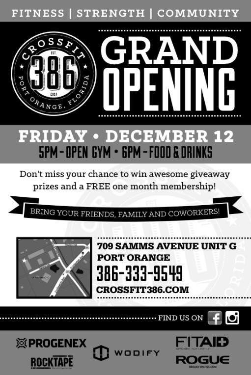CF386 Grand Opening Flyer | flyer dea | Gym advertising