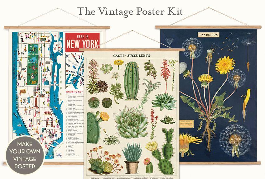 Vintage Poster Kits Vintage Posters Smart Art Art Prints