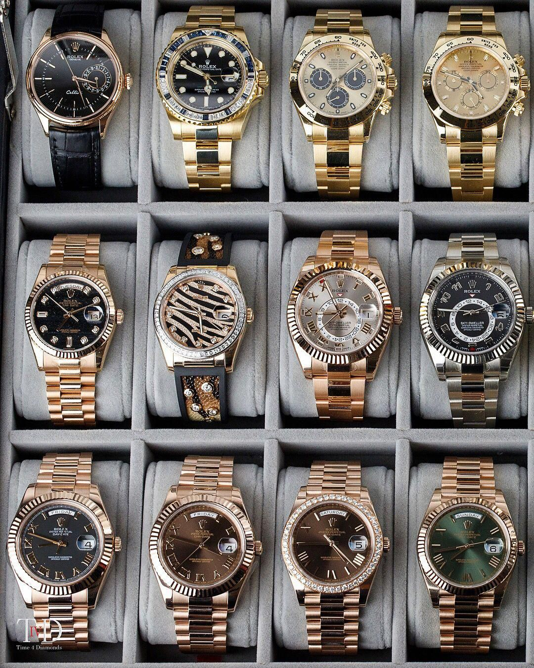 "Watches by Aleks on Instagram: ""Part of the Rolex collection available at @time4diamonds"
