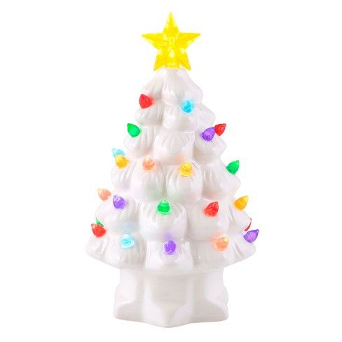 Mr Christmas Ceramic Christmas Tree Figurine White Large I Want
