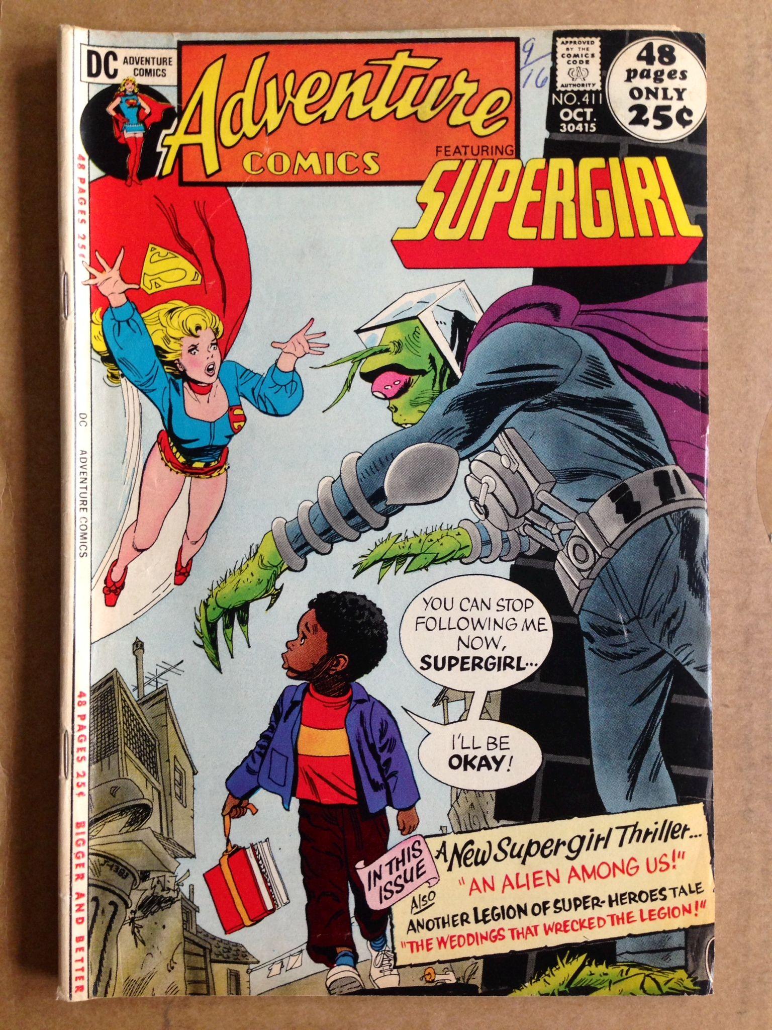 Dc supergirl adventure comics no 411 oct 1971 stop
