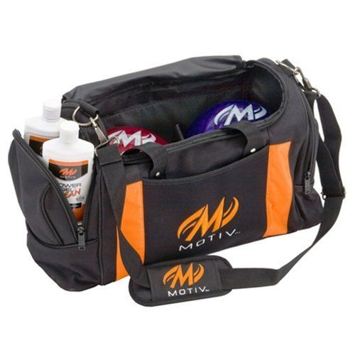 Motiv Double Deluxe Bowling Bag By Motiv Bowling Products 36 95 2 Ball Capacity Holds A Single Pair Of Shoes 2 Large Zippere Bowling Bags Tote Bowling Shoes