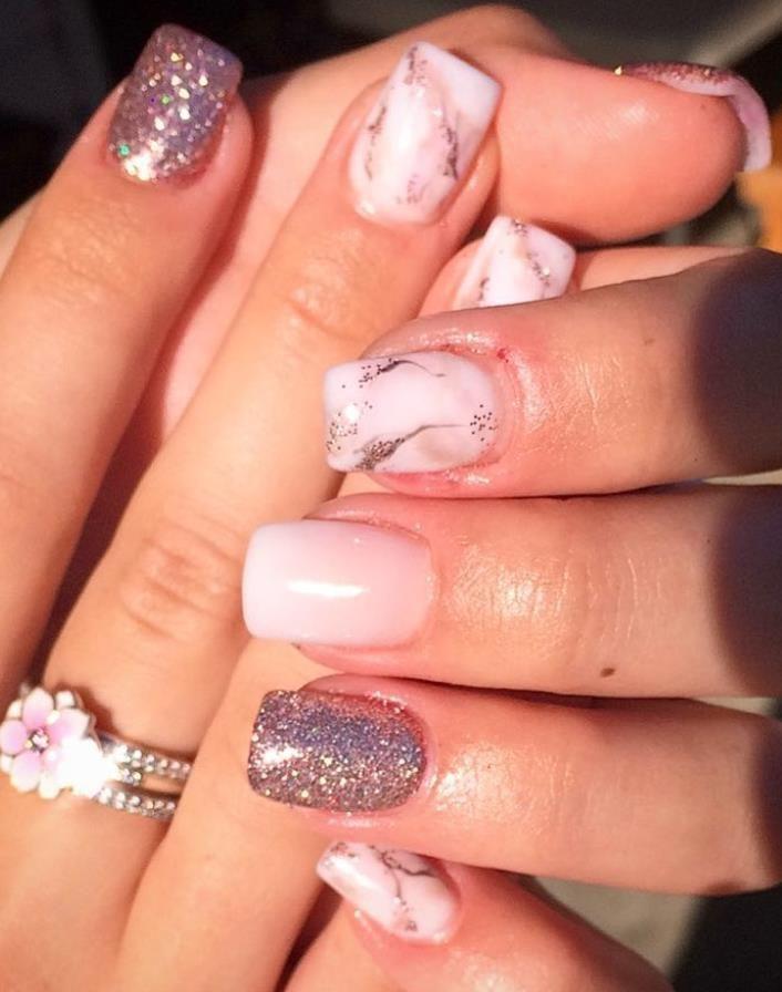acrylic short square nails designs