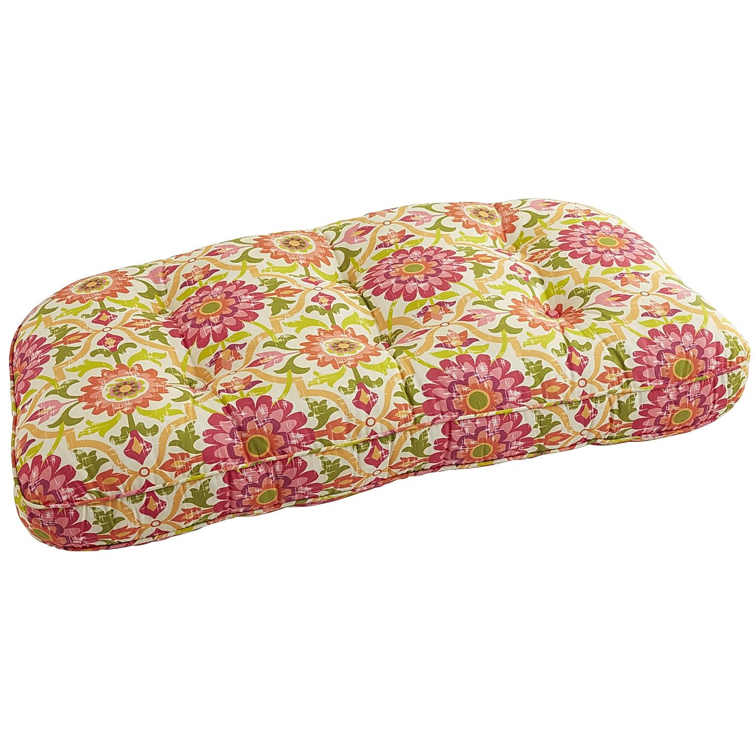 Pink Mariposa Deluxe Settee Cushion Polyester Outdoor Home