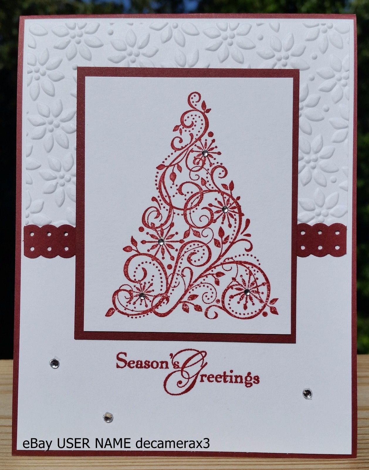 Christmas Handmade Card Kit Set Of 4 Stampin Up Snow Swirled Handmade Card Kits Stamped Christmas Cards Cards Handmade
