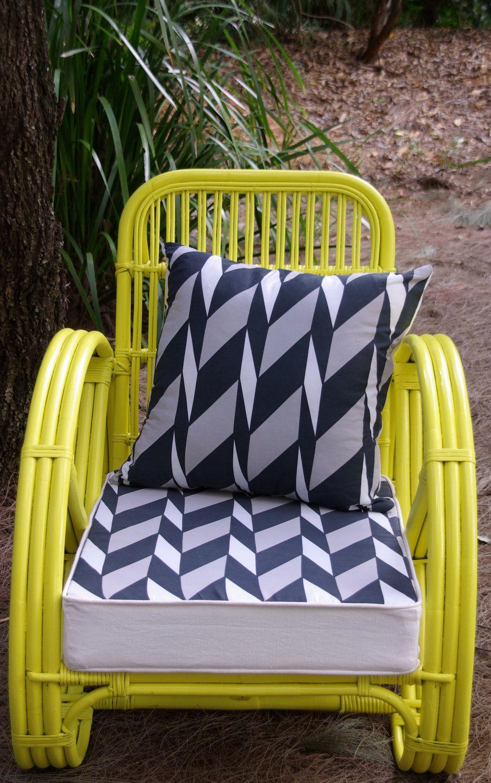 CUSTOM Upcycled Vintage Cane Pretzel Chair. $351.00, Via Etsy.