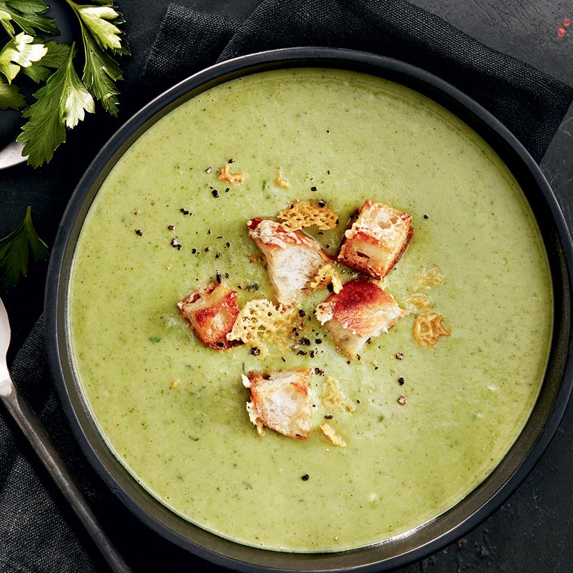 Recette de potage au brocoli et aux poireaux | Coup de Pouce