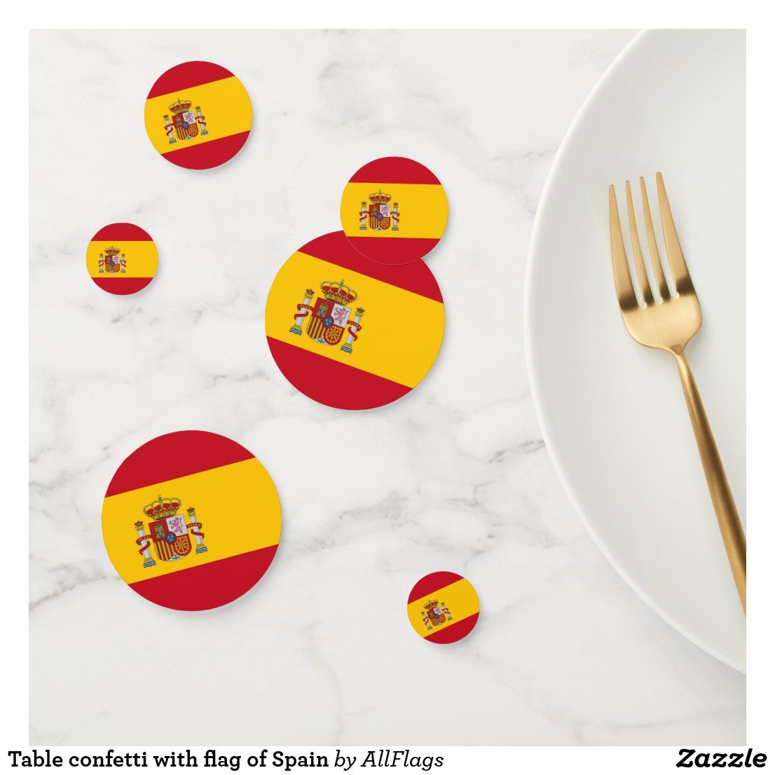 Table confetti with flag of Spain
