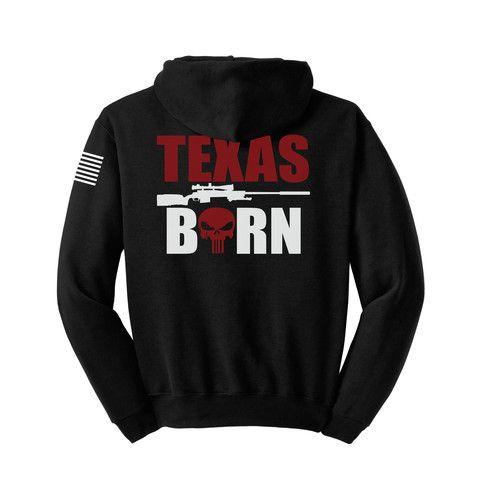 6e1cd92ea44 Chris Kyle  Texas Born  Hooded Sweatshirt