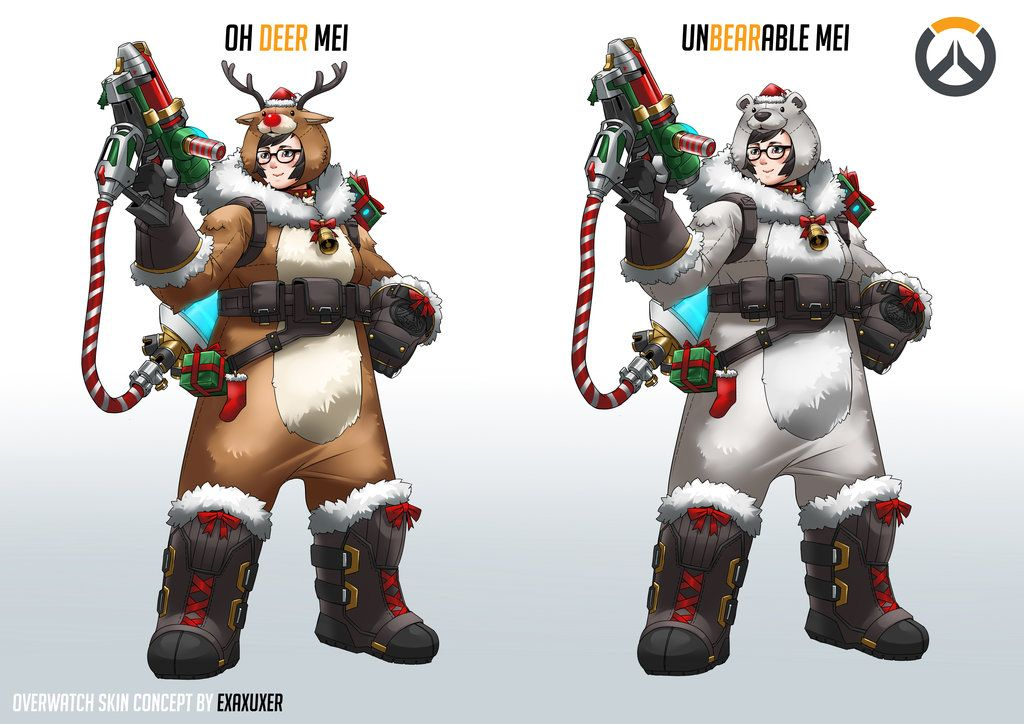 Mei christmas skin concept. by Exaxuxer on DeviantArt | Underwatched ...