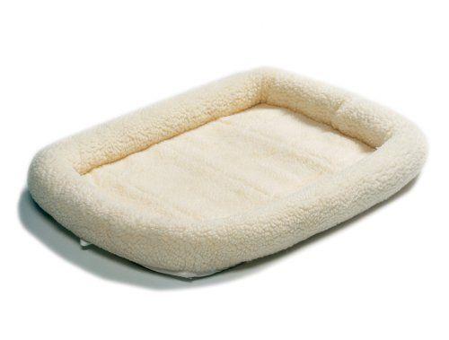 Midwest 40224 24 By 18 Inch Quiet Time Bolster Pet Bed Fleece 13 99 Fleece Pet Bed Dog Crate Mats Cheap Dog Beds