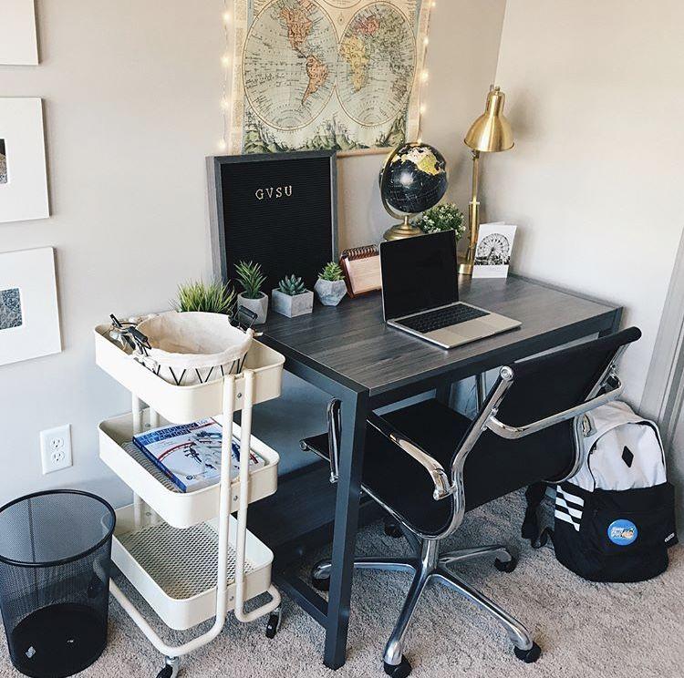 Dorm College Desk Apartment Decor | College apartment ...