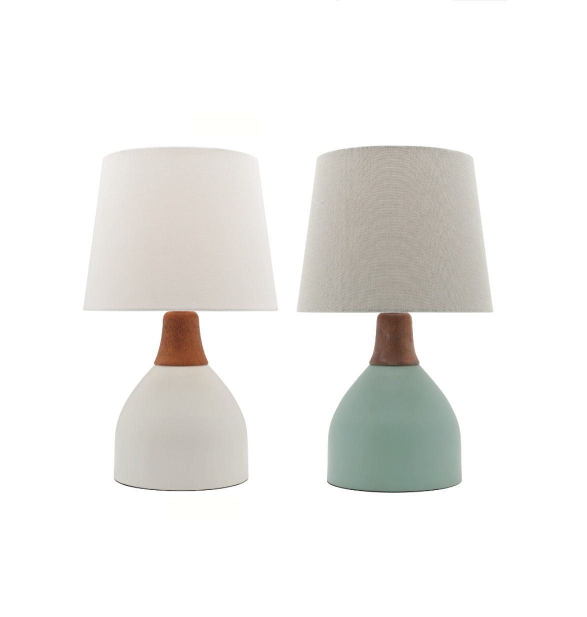 Madeline table lamp white or duck egg green with timber mercator madeline table lamp white or duck egg green with timber mercator a62911 7900 aloadofball Images