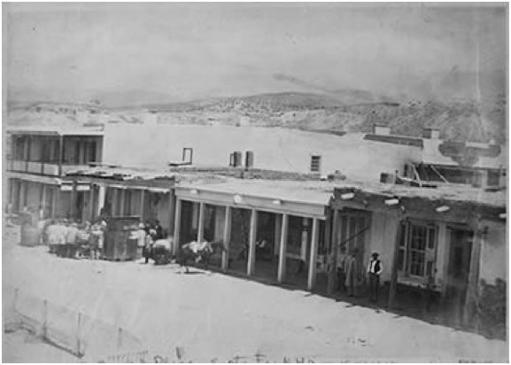 When Susan Magoffin reached the end of the Santa Fe Trail on the Plaza, it looked mighty different than it does today. (Photo courtesy of the National Archives and Records Administration) #santafe