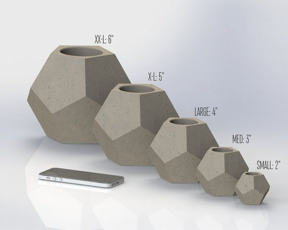 Dodecahedron mold set reusable molds sizes s xxl by for Concrete craft molds