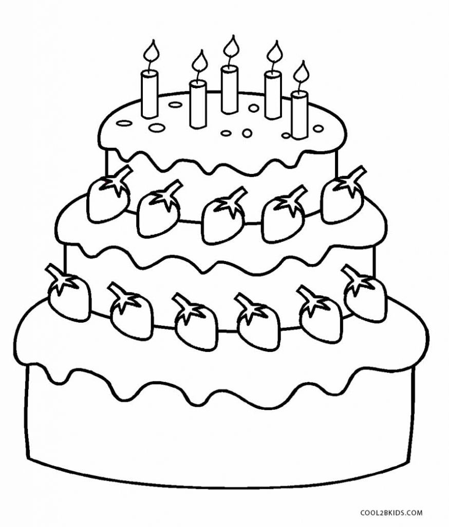 Happy First Birthday Coloring Page
