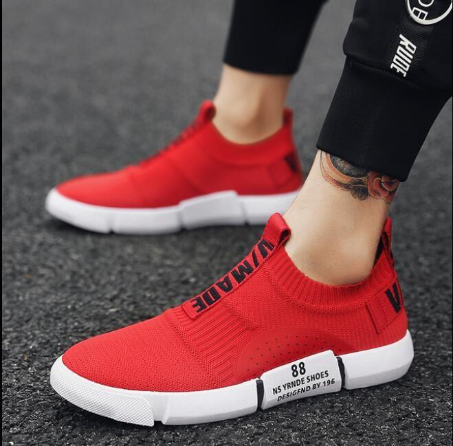 2c46c8b02 Sock Women Running Shoes 2018 New Sport Shoes Sneakers Woman Athletic Socks  Breathable Walking Slip On Footwear Black Red. Yesterday s price  US  48.00  ...