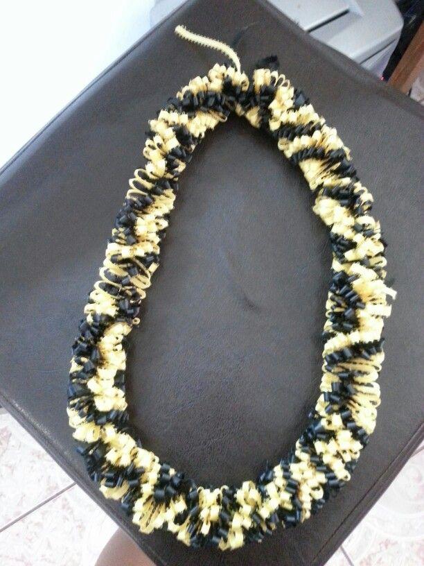 black gold ribbon lei i made it pinterest ribbon lei gold