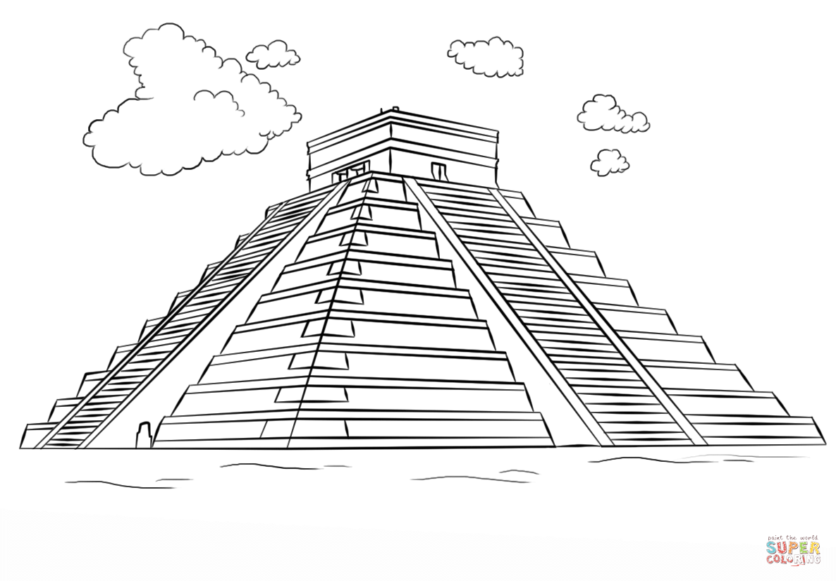Coloring Pages Of Aztec Pyramids Book Covers