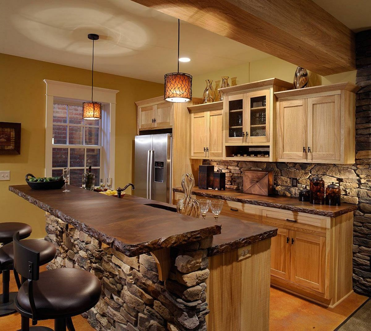 35 Gorgeous Rustic Kitchen Designs And Decorations For ...