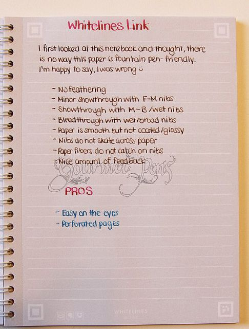 Whitelines Link Writing Sample By Gourmetpens Via Flickr