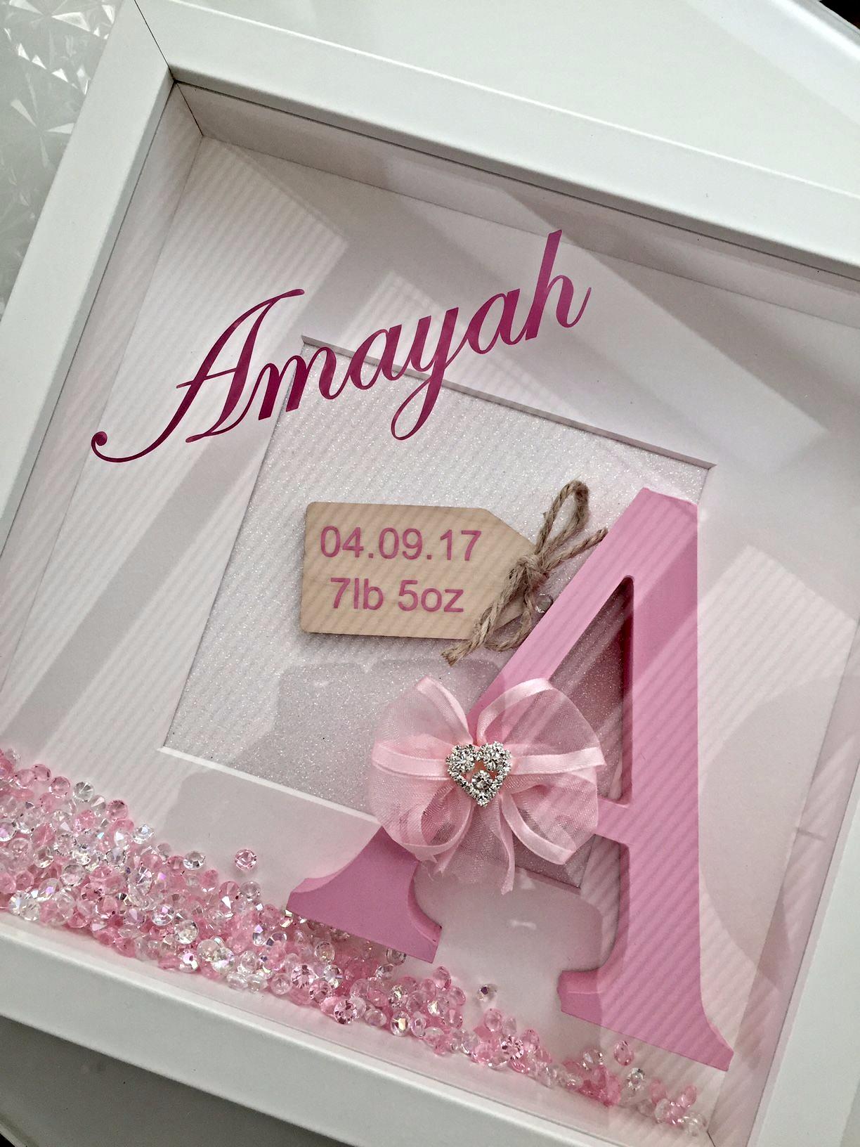 New Baby Initial Box Frame | Jugendzimmer, Zur geburt und Die geburt