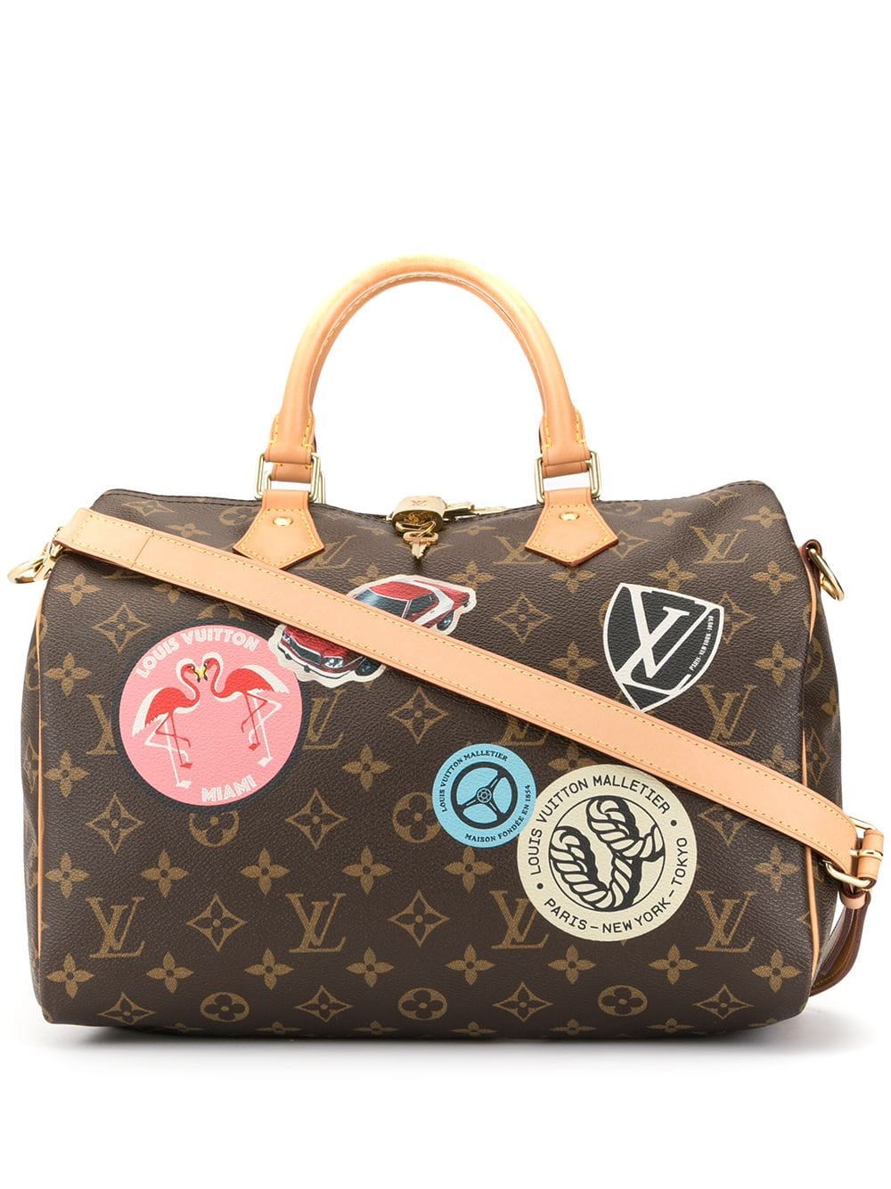 Louis Vuitton Pre Owned Speedy 30 Bandouliere 2way Hand Bag Brown Louis Vuitton Bags Speedy Bandouliere 30