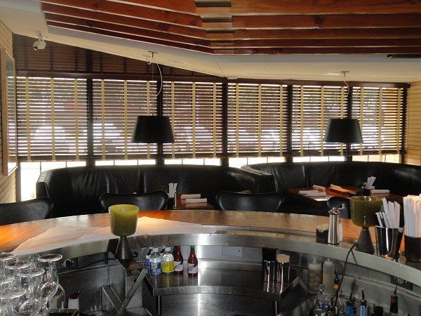 Motorized blinds and shades are innovative solutions for restaurants