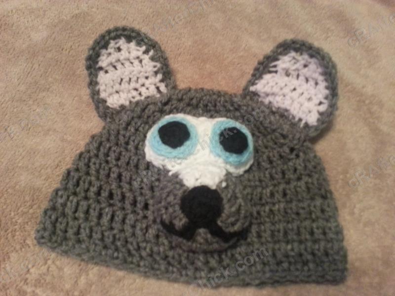 Baby Wolf Beanie Hat Crochet Pattern- free crochet hat pattern from  cRAfterChick.com 0d64fe05161