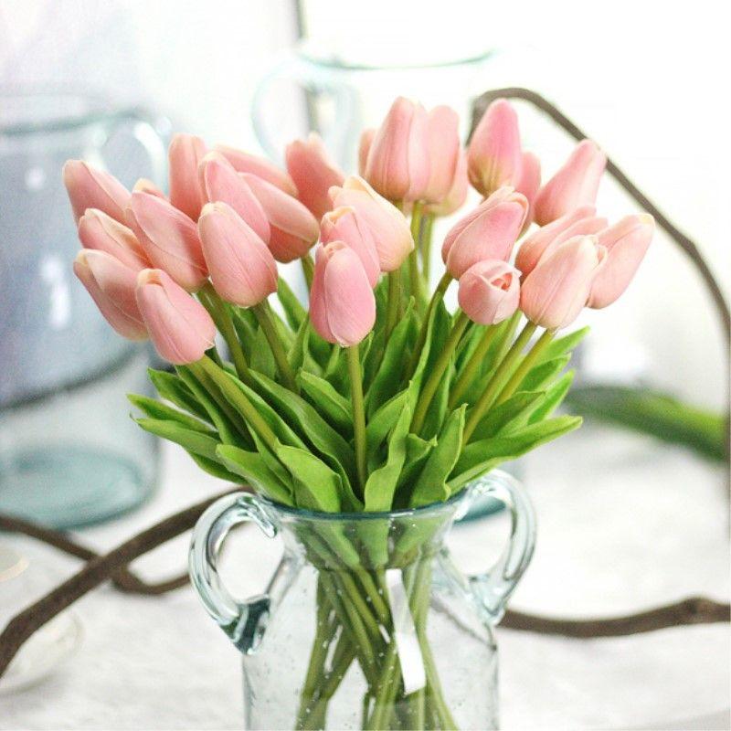 21 Sztukpartia Tulipany Prawdziwy Dotyk Sztuczny Kwiat Sztuczne