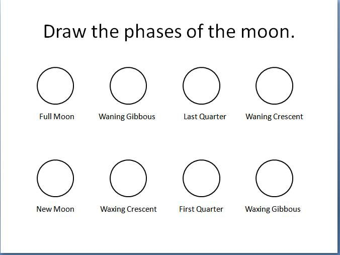 Draw the phases of the moon | Astronomy unit | Pinterest | School