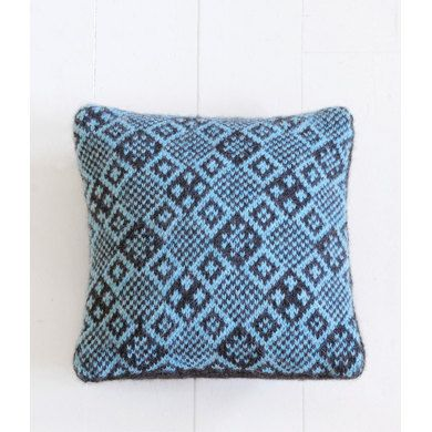 13th Street Cushion Cover In Blue Sky Fibers Melange Free Knitting