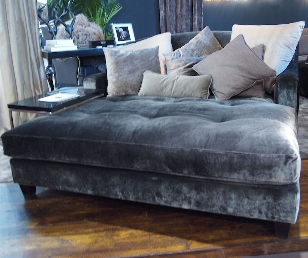- Silk Velvet...pure Luxury Oversized Chaise Lounge, Furniture, Home